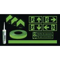 Systèmes de guidage d'évacuation photoluminescents pour couloirs