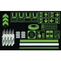 Systèmes de guidage d'évacuation photoluminescents pour escaliers