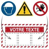 Panneaux de sécurité personnalisables pour chantier