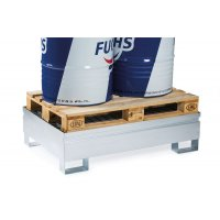 Bacs de rétention en acier galvanisé pour fûts ou palettes 220 l