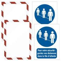 Kit d'affichage magnétique - Gardez vos distances