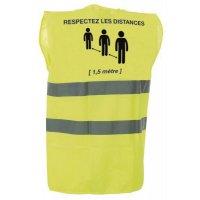Gilet jaune pour distanciation sociale 1m5