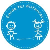 Marquage au sol pour enfants - garde tes distances