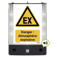Panneau avertisseur sonore et visuel d'atmoshpère explosive ATEX