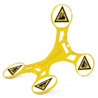 Chevalet de signalisation Seton 360 - Danger chariot élévateur