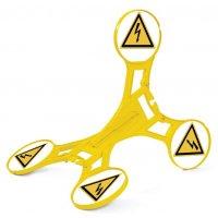 Chevalet de signalisation Seton 360 - Danger électrique