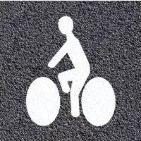 Marquage au sol thermoplastique : cycliste