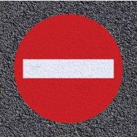 Marquage au sol thermoplastique : sens interdit