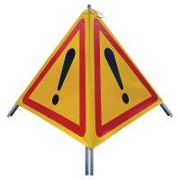 Tripode de signalisation danger pliable réfléchissant