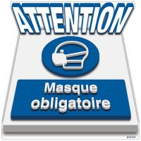 Marquage au sol 3D - ATTENTION Masque obligatoire