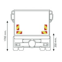 Set de 4 plaques de balisage arrière pour camion