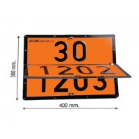 Plaque orange ADR convertible