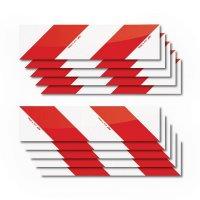 Set de bandes réfléchissantes rouge / blanc pour véhicules