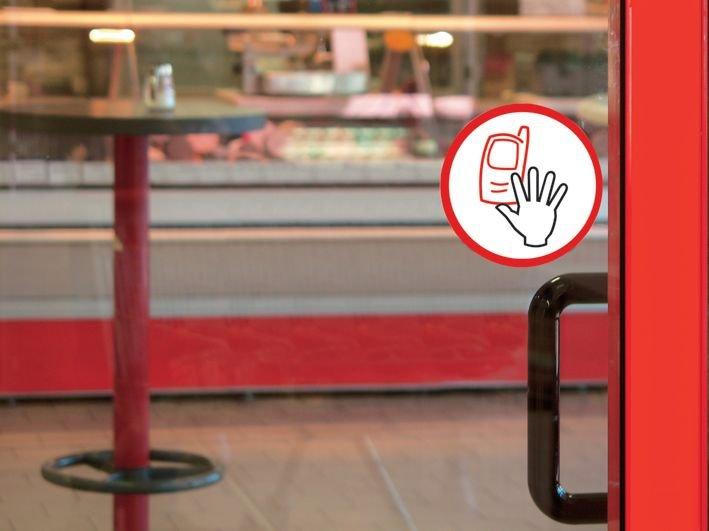 Signalisation de courtoisie Interdiction d'activer des téléphones mobiles - Seton