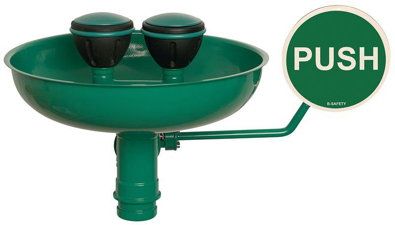 Lave-yeux de sécurité avec cuvette pour montage mural externe B-safety