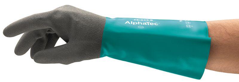Gants de protection chimique avec manchette en nitrile Alphatec® 58-535 Ansell