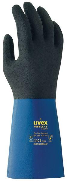 Gants de protection chimique Uvex Rubiflex S XG