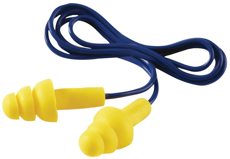 Bouchons d'oreilles réutilisables 32 dB, en mousse douce haute visibilité