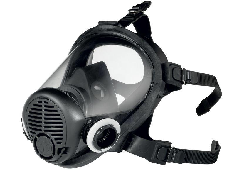 Masque complet de protection respiratoire bi-filtre avec système de fixation click