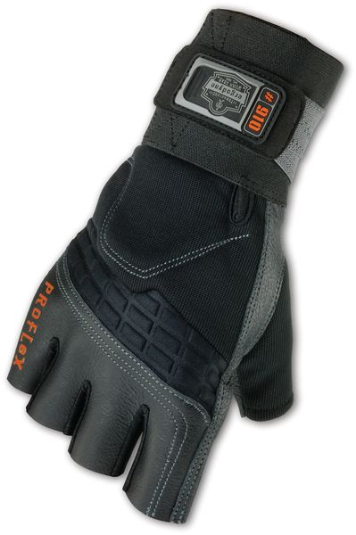 Protège-poignet modèle gant en cuir avec paume en gel anti-coups