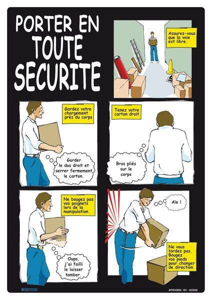 Affiche - Porter en toute sécurité