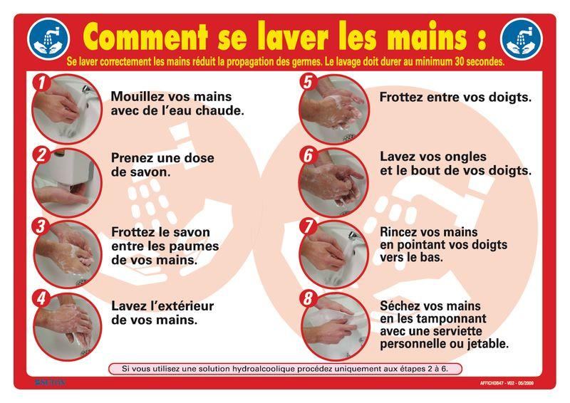 Affiche - Comment se laver les mains