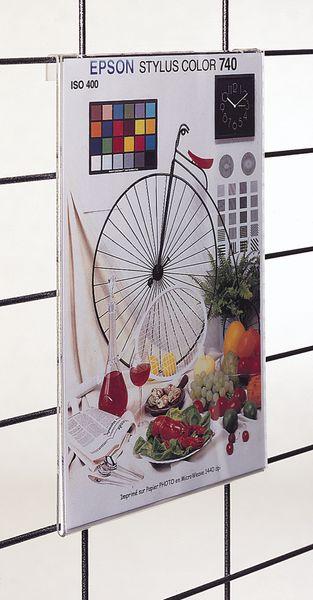 Porte-affiches en plexiglas pour grille d'exposition modulable