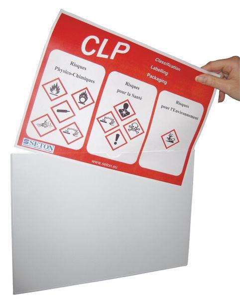 Pochettes de protection transparentes A4 à dos magnétique