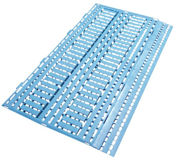 Dalles caillebotis industrielles modulables en polyéthylène pour charges lourdes