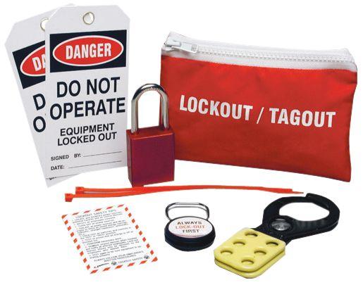 Pochette ceinture comprenant un kit de condamnation