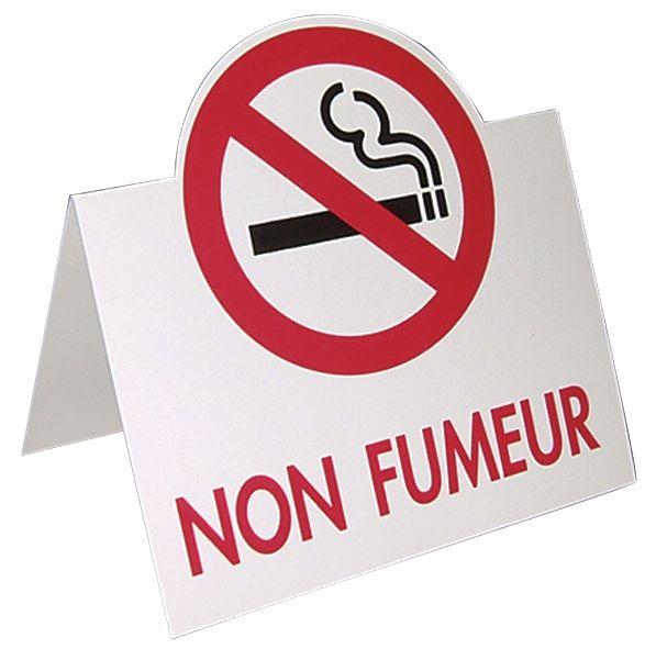 "Chevalet de table en carton ""Interdiction de fumer"""