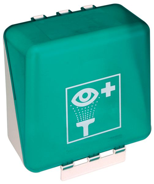 Coffret mural vide pour solutions de lavage oculaire