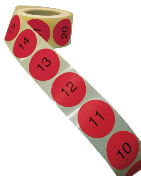 Pastilles en papier multi-usages numérotées