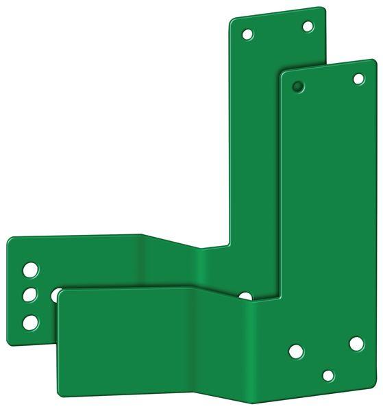 Plaques de montage pour alarme de porte avec barre anti-panique