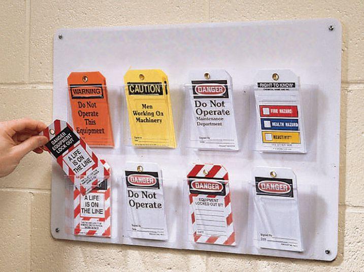 Distributeur d'étiquettes mural grand format, 8 compartiments