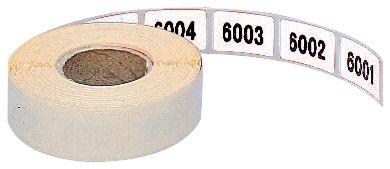 Etiquettes en papier prénumérotées