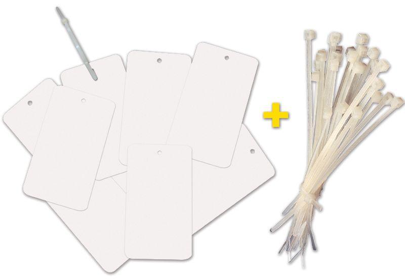 Prix Spécial - Lot de 500 plaquettes + 500 colliers de serrage