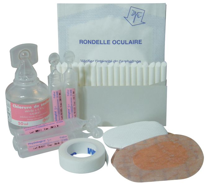 Kit de secours projection oculaire