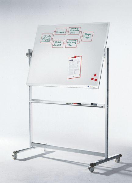 Tableau blanc magnétique émaillé pivotant