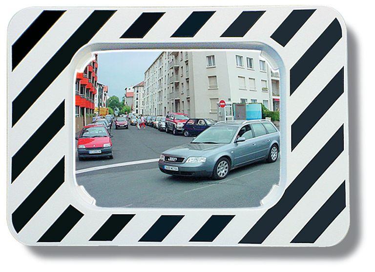 Miroirs d'agglomération réglementaires noirs et blancs