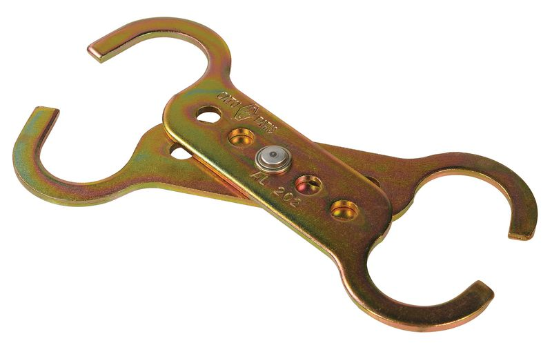 Mâchoire de sécurité en métal à double crochet