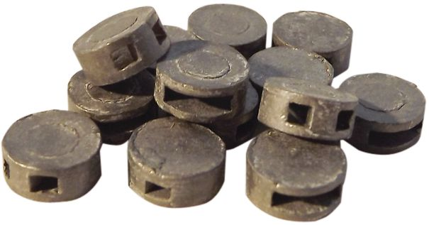 Plombs à sceller en métal naturel