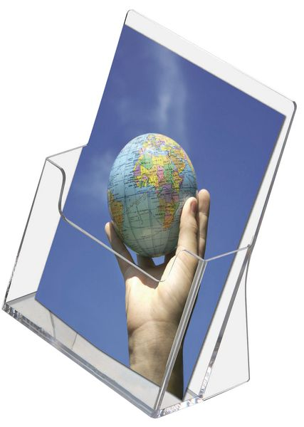 Porte-brochures transparent