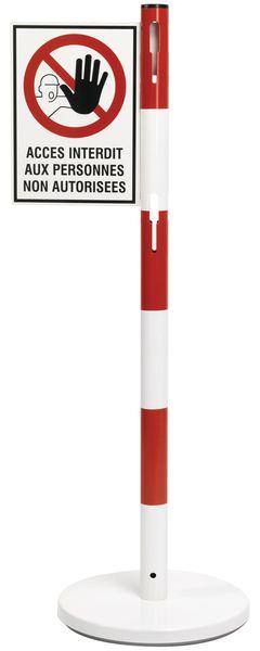 Panneau en drapeau pour poteau en acier - Accès interdit aux personnes non autorisées