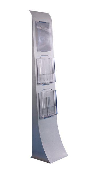Porte-brochures colonne sur pied modulable