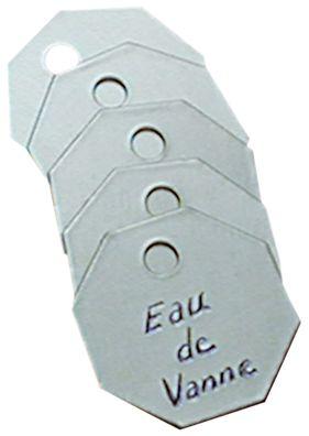 Jetons de vannes en aluminium auto-embossables