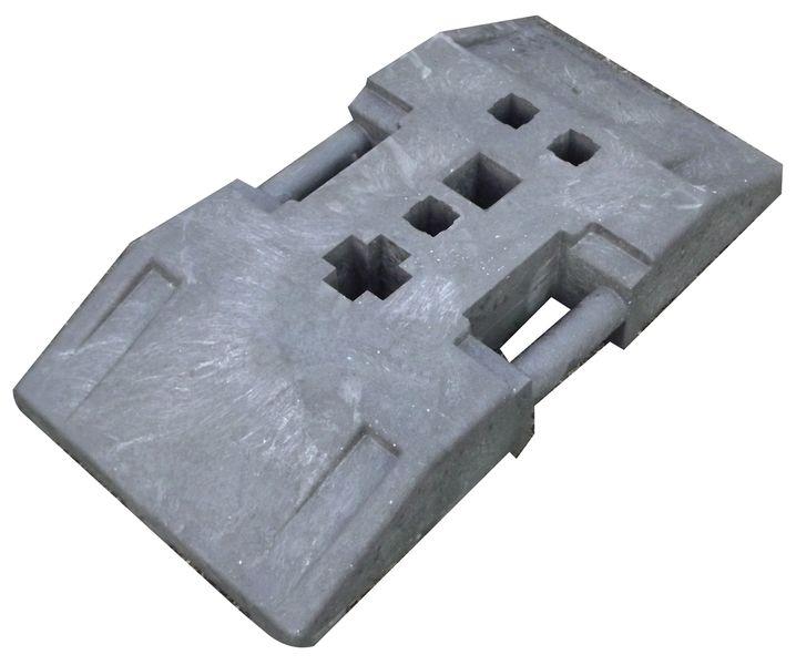 Plastobloc pour poteaux de signalisation