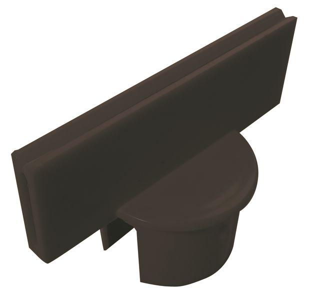 Adaptateurs porte-panneau pour poteaux en PVC sur socle