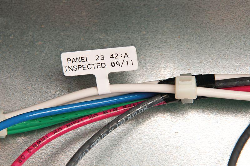 Etiquettes drapeaux pour le marquage de câbles et fils pour imprimante BMP51