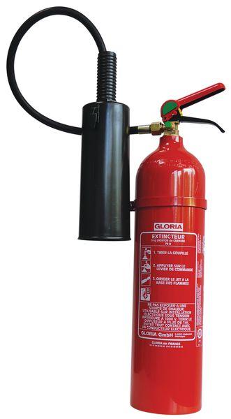 Extincteurs à CO<sub>2</sub> pour feux de type B et d'équipements électriques